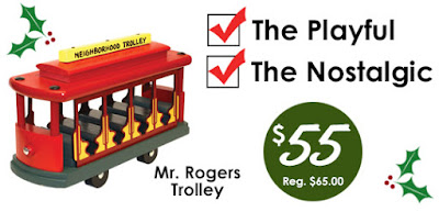 Mr. Rogers Classic Trolley on Special at Holgate Toys