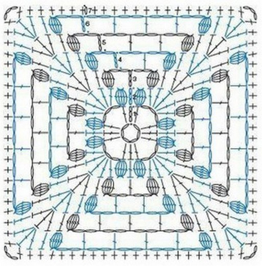crochet granny square diagram mitsubishi canter wiring diagrams ergahandmade 14