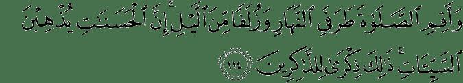 Surat Hud Ayat 114