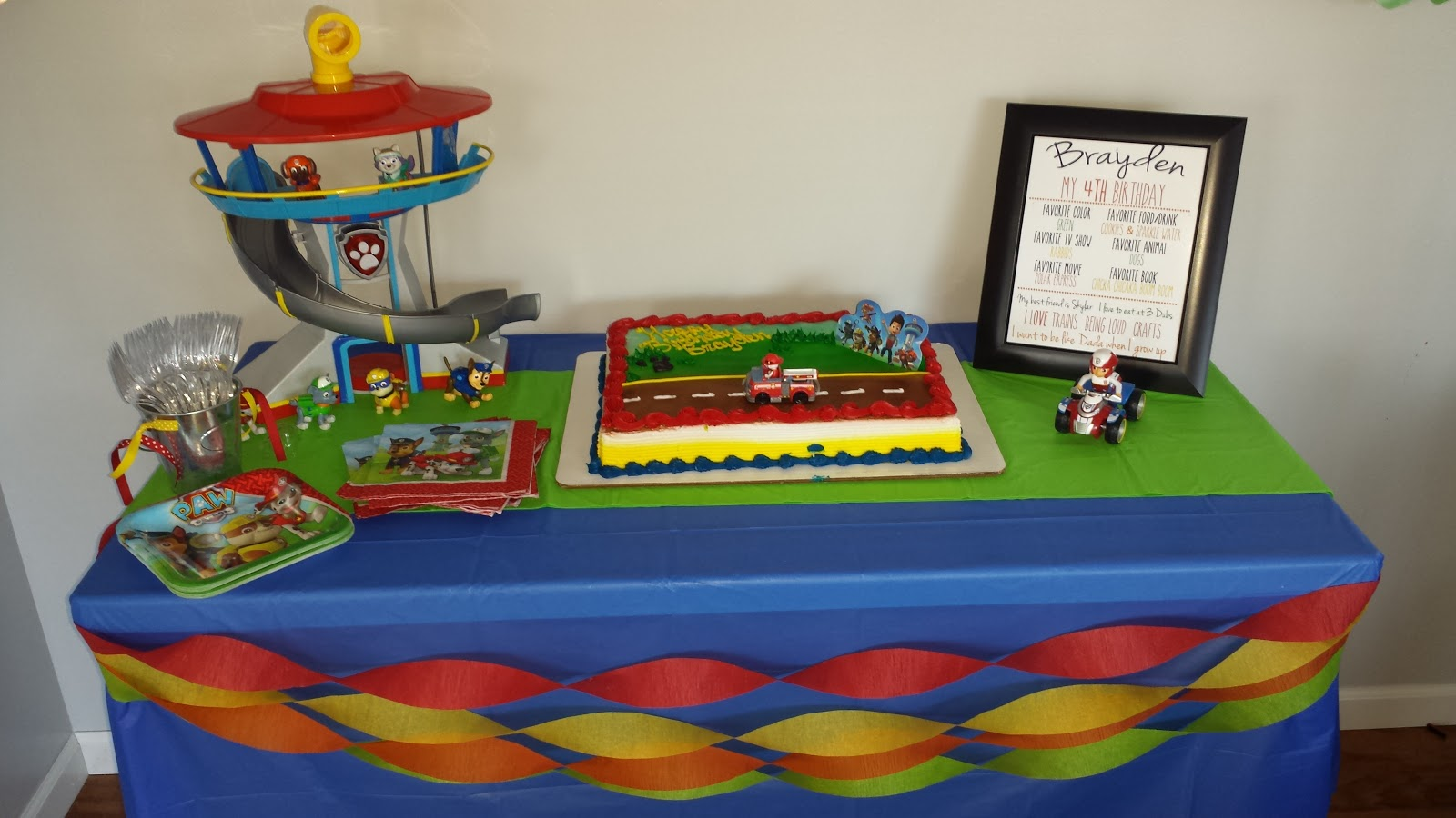 One Happy Mommy Paw Patrol 4th Birthday Party