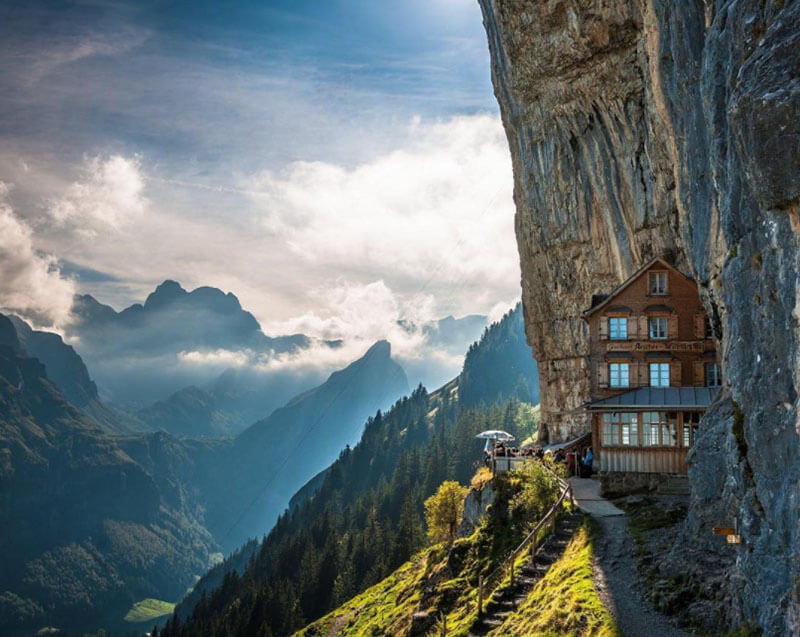 32 Stunning Places on Earth You Should Visit Before You Die - Magical hotel in Switzerland