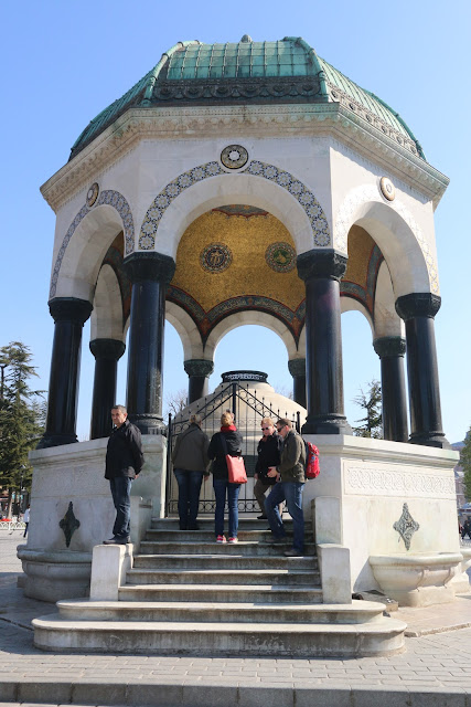 German Fountain was built originated from Germany to commemorate the second anniversary of German Emperor WilhelmII's visit to Istanbul in 1898 at Hippodrome in Istanbul, Turkey
