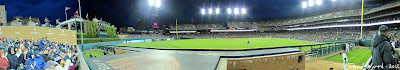 Comerica Park, Tigers Stadium, view from left field bleachers seats
