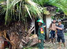 Hujan lebat di Gorontalo Dandim 1304/Gorontalo siagakan Personel Babinsa di Wilayah