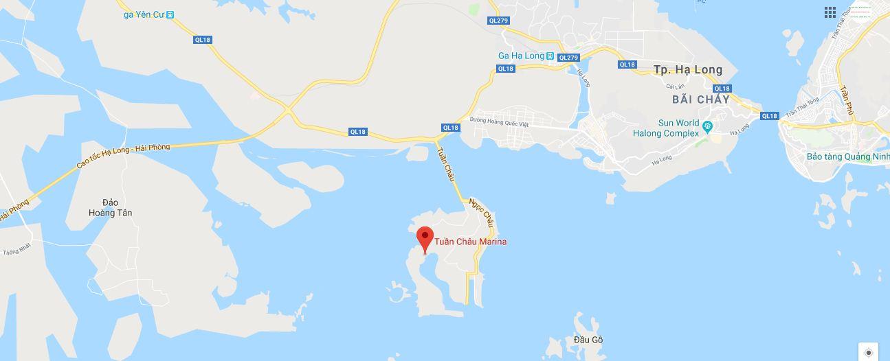 Vị trí dự án Tuần Châu Marina Hạ Long.