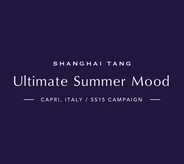 Shanghai Tang Spring Summer 2015 Collection Shoot at Capri, Italy