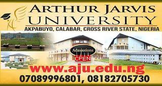 Arthur Jarvis University Post UTME Form 2018