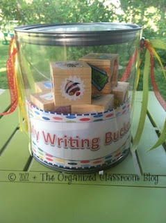 Want your own My Writing Bucket label?