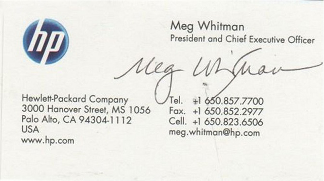 Meg Whitman - Hewlett Packard