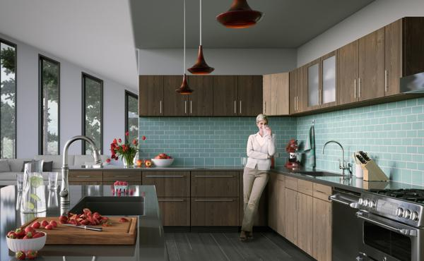 Keramik mungkin yakni salah satu materi yang cukup banyak dipakai di rumah Pola Unik Dinding Dapur Rumah Minimalis