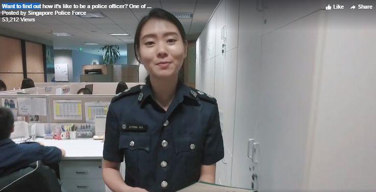 シンガポール警察のキャリアアドバイザーの美貌に,シンガポールネット「大変なものを盜んでいた,それ ...