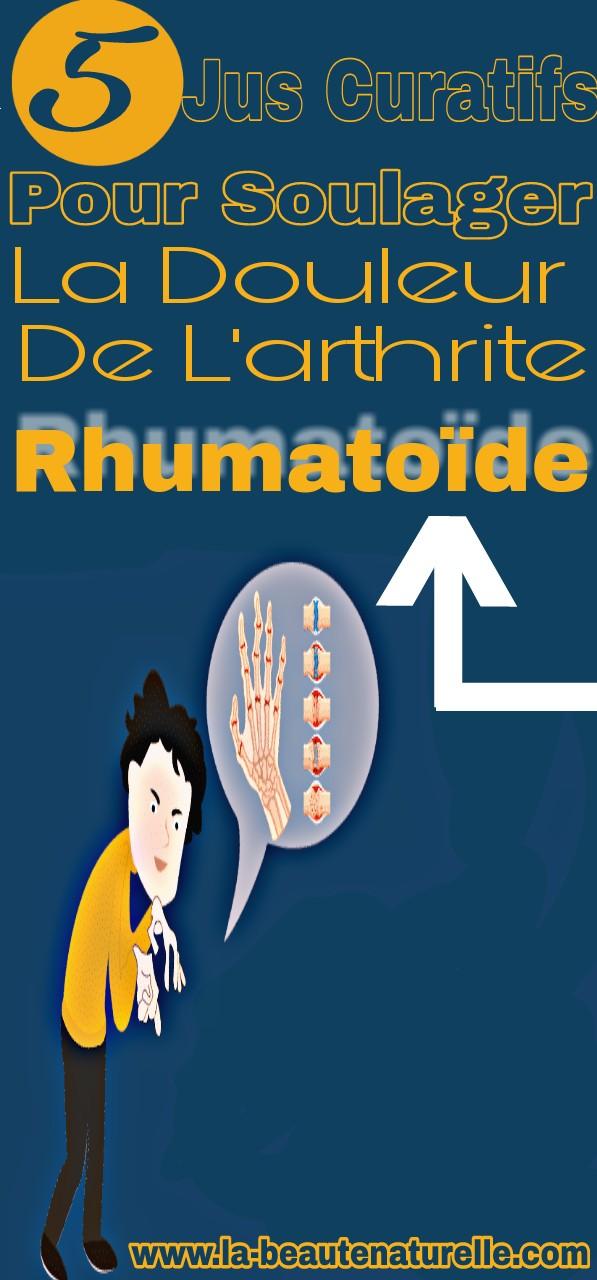 5 Jus curatifs pour soulager la douleur de l'arthrite rhumatoïde