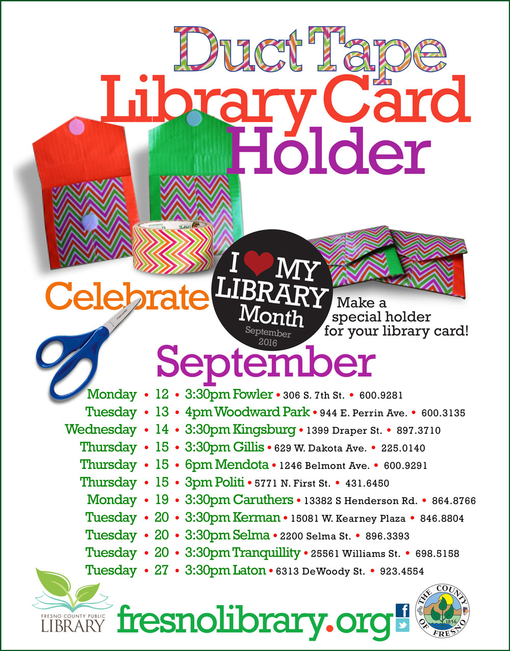 read  watch  listen   D I Y  Library Card Holder  FCPL