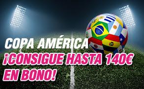 wanabet consigue 140 euros bonos Copa America 2016