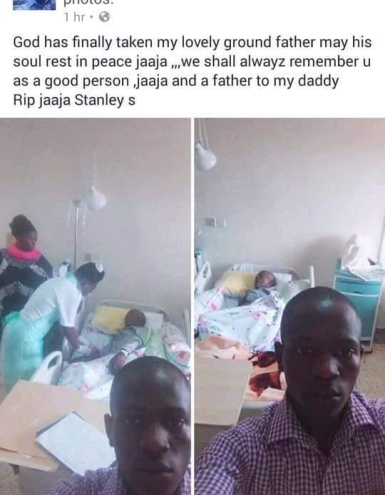 Photo: See how this man announced his grandfather's death