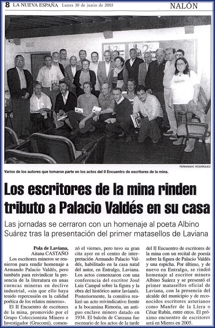 Participantes del 2º Encuentro de Escritores de la Mina