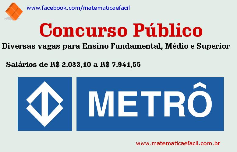 Concurso Público para o Metrô