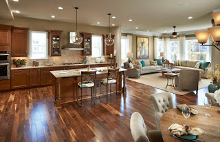 open concept kitchen living room small space