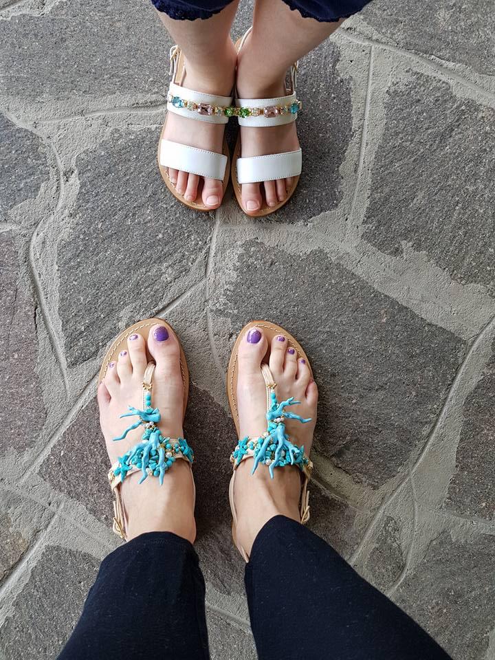Sandali mamma e figlia Moda Positano estate 2018 ~ Da Mamma a Mamma 5984eb7b8ed