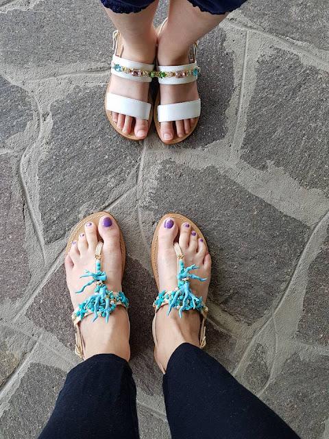 Sandali mamma e figlia Moda Positano estate 2018