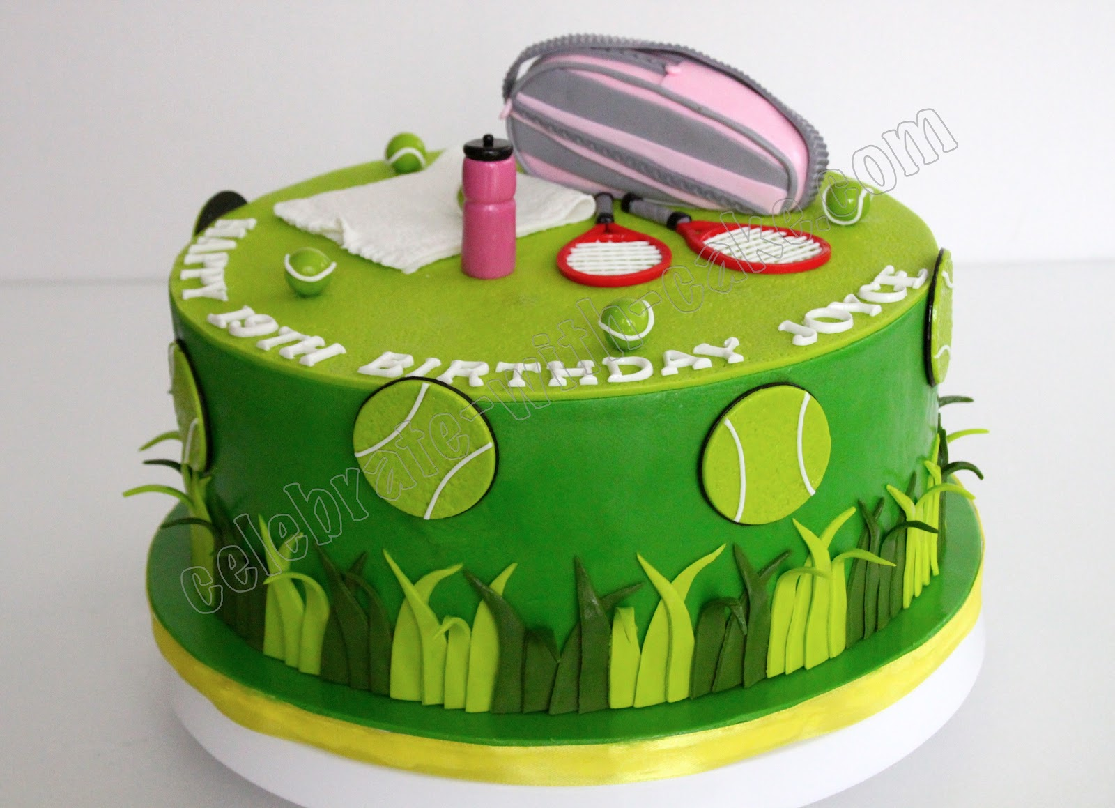 Tennis Themed Cake