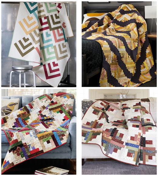 Free Log Cabin Quilt Patterns eBook