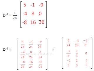 Invers matriks 3x3 contoh soal 2