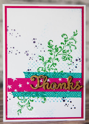 Thank You Card Made With the Timeless Textures Stamp Set From Stampin' Up! UK
