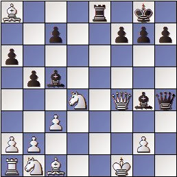Partida de ajedrez Joaquim Aulina - Francesc Prat, posición después de 19… Dh4