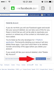 cara menghapus akun facebook lewat hp permanen