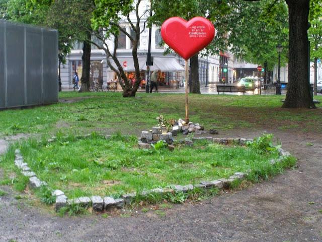 Espacio dedicado a las víctimas de la matanza cometida por Anders Behring Breivik, en la isla de Utoya