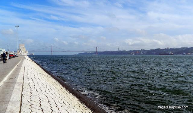As margens do tejo no bairro de Belém, em Lisboa