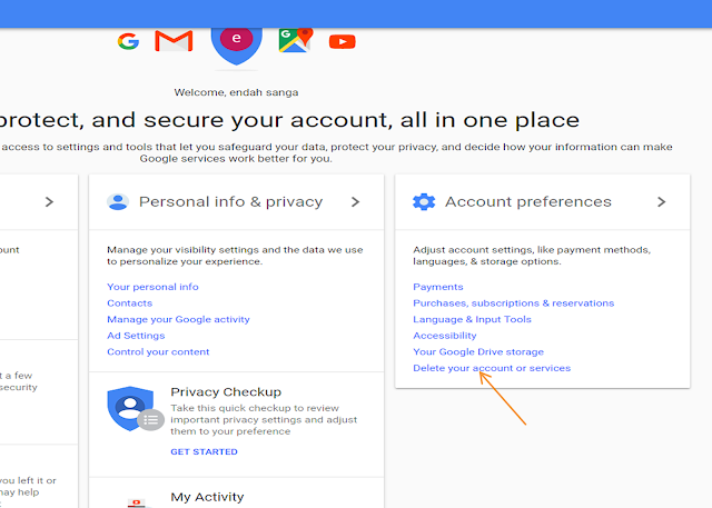 cara menghapus akun Gmail