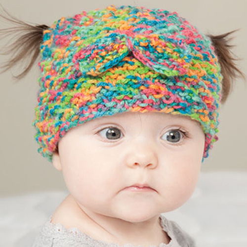 Messy Bun & Pigtail Knit Hat