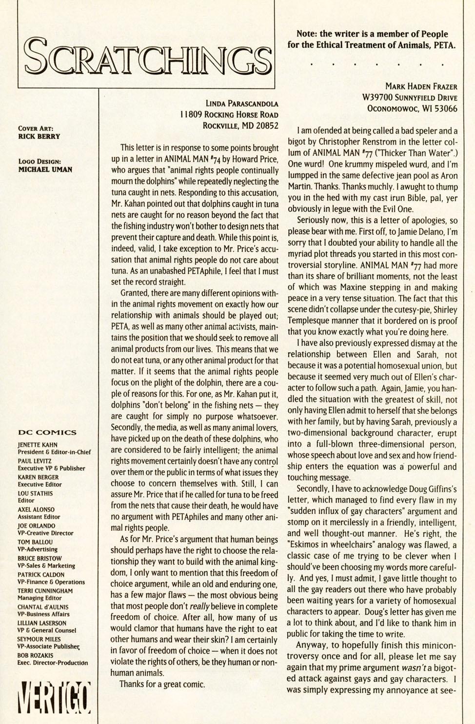 Read online Animal Man (1988) comic -  Issue #81 - 26