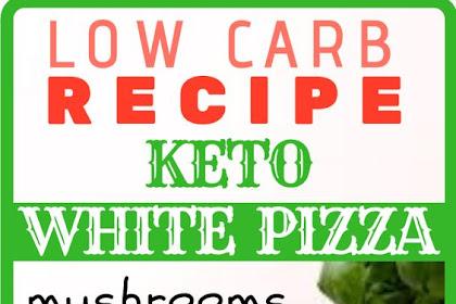 KETO WHITE PIZZA with mushrooms and pesto