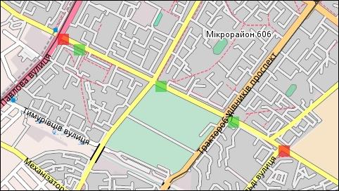Карта с остановками маршрута