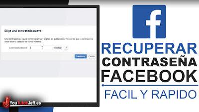 como recuperar contraseña de facebook