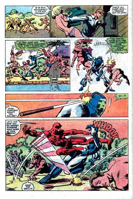 Daredevil v1 #167 marvel comic book page art by Frank Miller