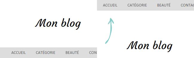 Fixer la barre de navigation en haut du blog Blogger