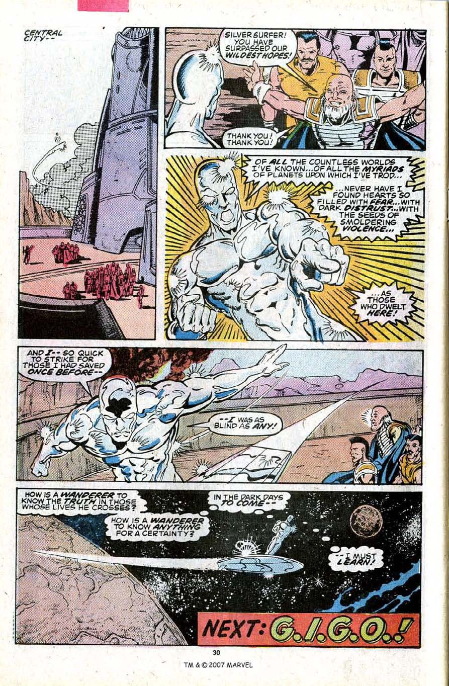 Read online Silver Surfer (1987) comic -  Issue #23 - 32