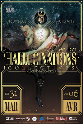 Affiche du festival Hallucinations collectives de Lyon 2015