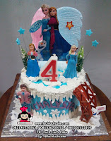 Birthday Cake Elsa and Anna For Girls