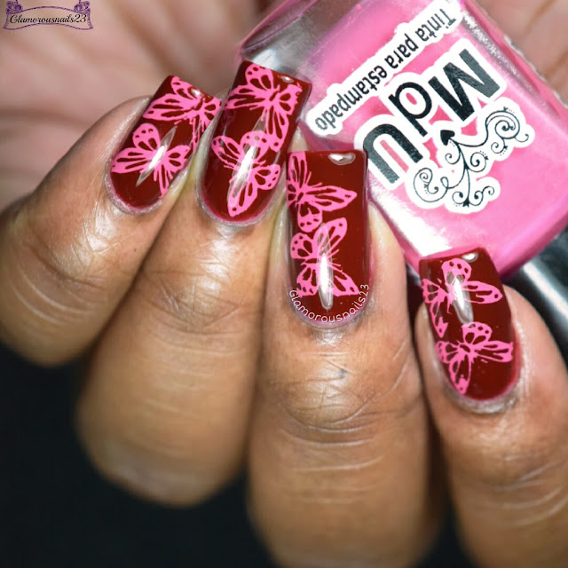 Crumpet's Nail Tarts January 2017 Day 20 - Red & Pink