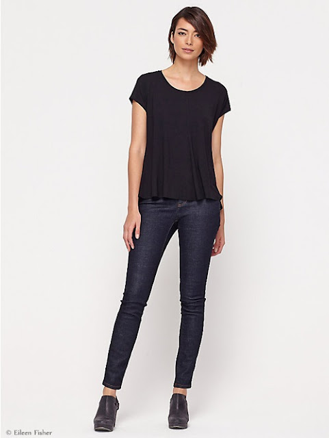 Eco-alternatives to skinny jean  by Eileen Fisher.  Photo courtesy of Eileen Fisher.