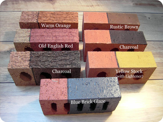 Remodelaholic update the color of your brick stained brick fireplace for Staining brick exterior pictures