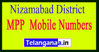 Telangana State Nizamabad District  MPP Mobile Numbers List