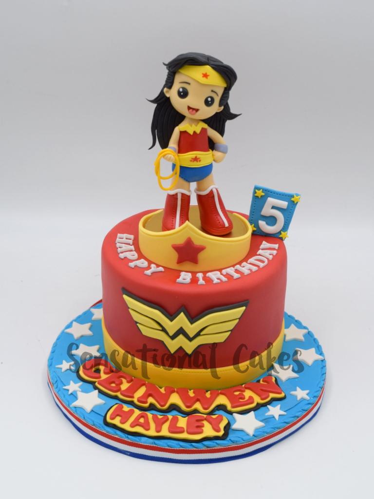 Wonder Woman Super Hero Inspired 3d Customized Girl Birthday Cake Sinngapore Wonderwomancake