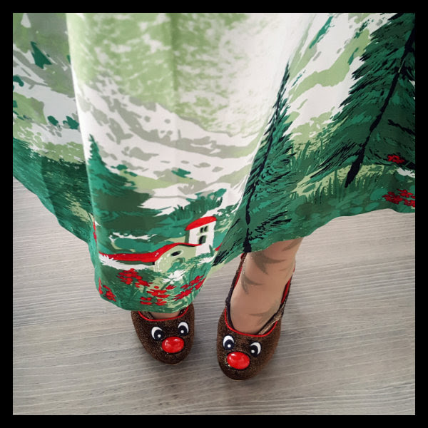 wearing irregular choice santa's ninth shoes lindy bop alpine