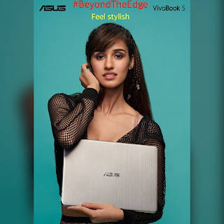 Disha patani  with asus notebook